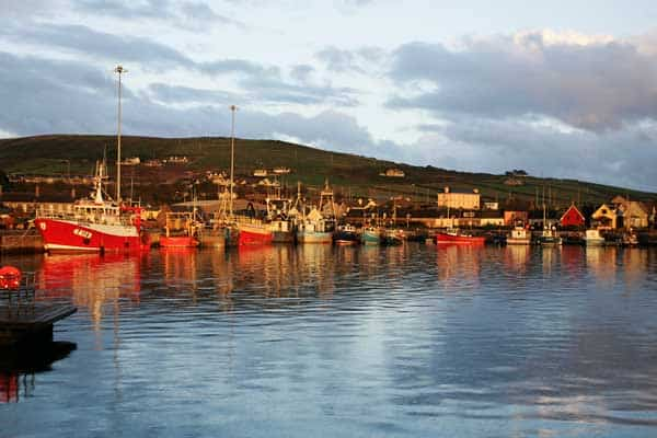 A small fishing village on the Dingle Peninsula in Ireland