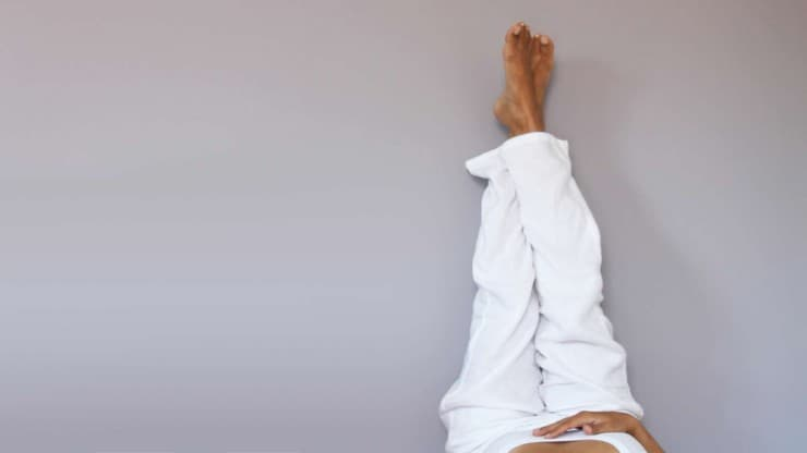 Easy Yoga Poses on the Wall