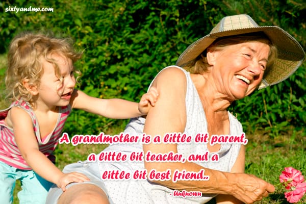 Grandmother quotes - a grandmother is a little bit parent