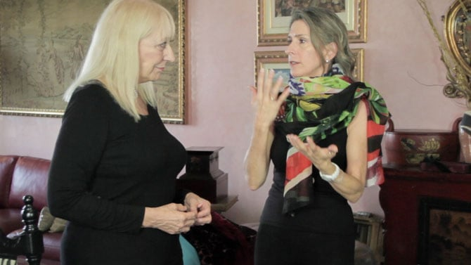 Fashion for Women Over 60 - Be Cautious with Multicolored Scarves