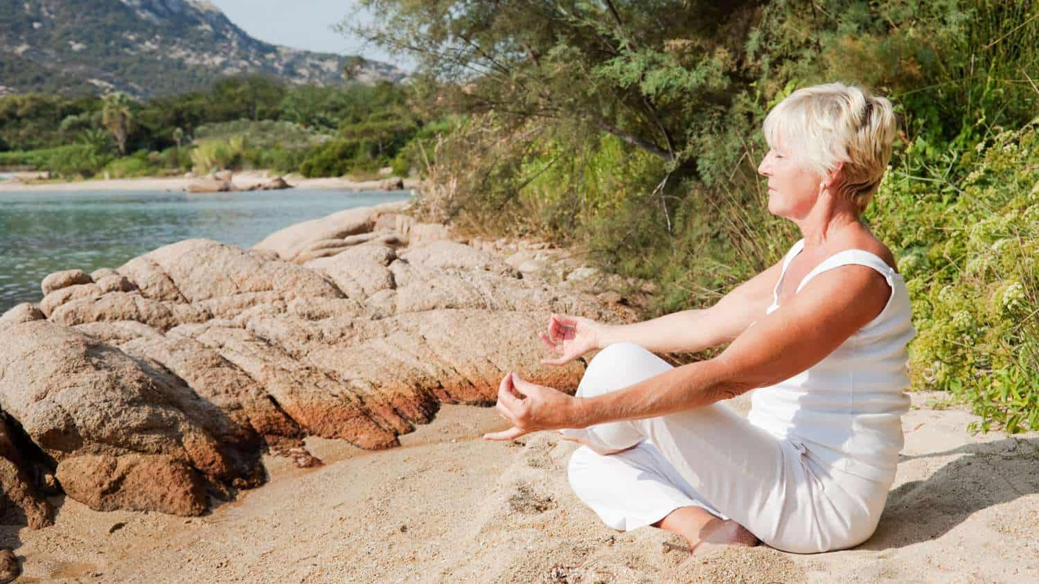 What Is Yoga Really Can You Benefit From Yoga For Seniors Video Sixty And Me