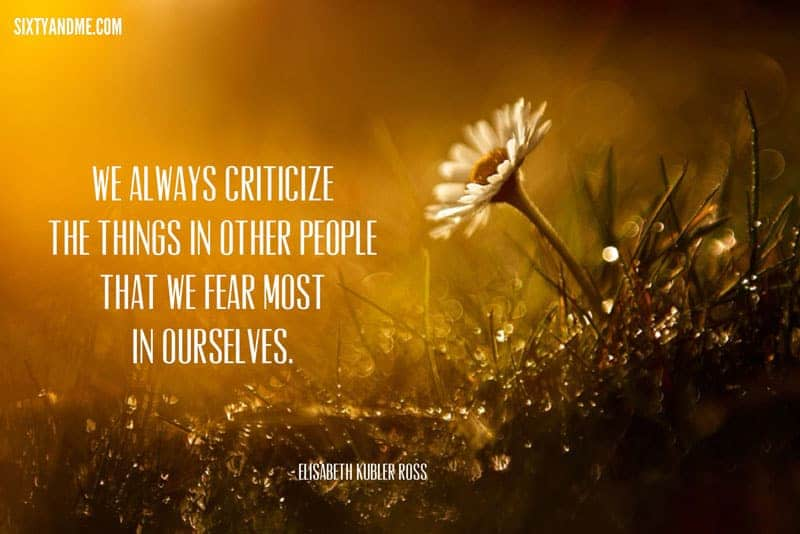 Elizabeth Kubler Ross - We always criticize the things in other people that we fear most in ourselves