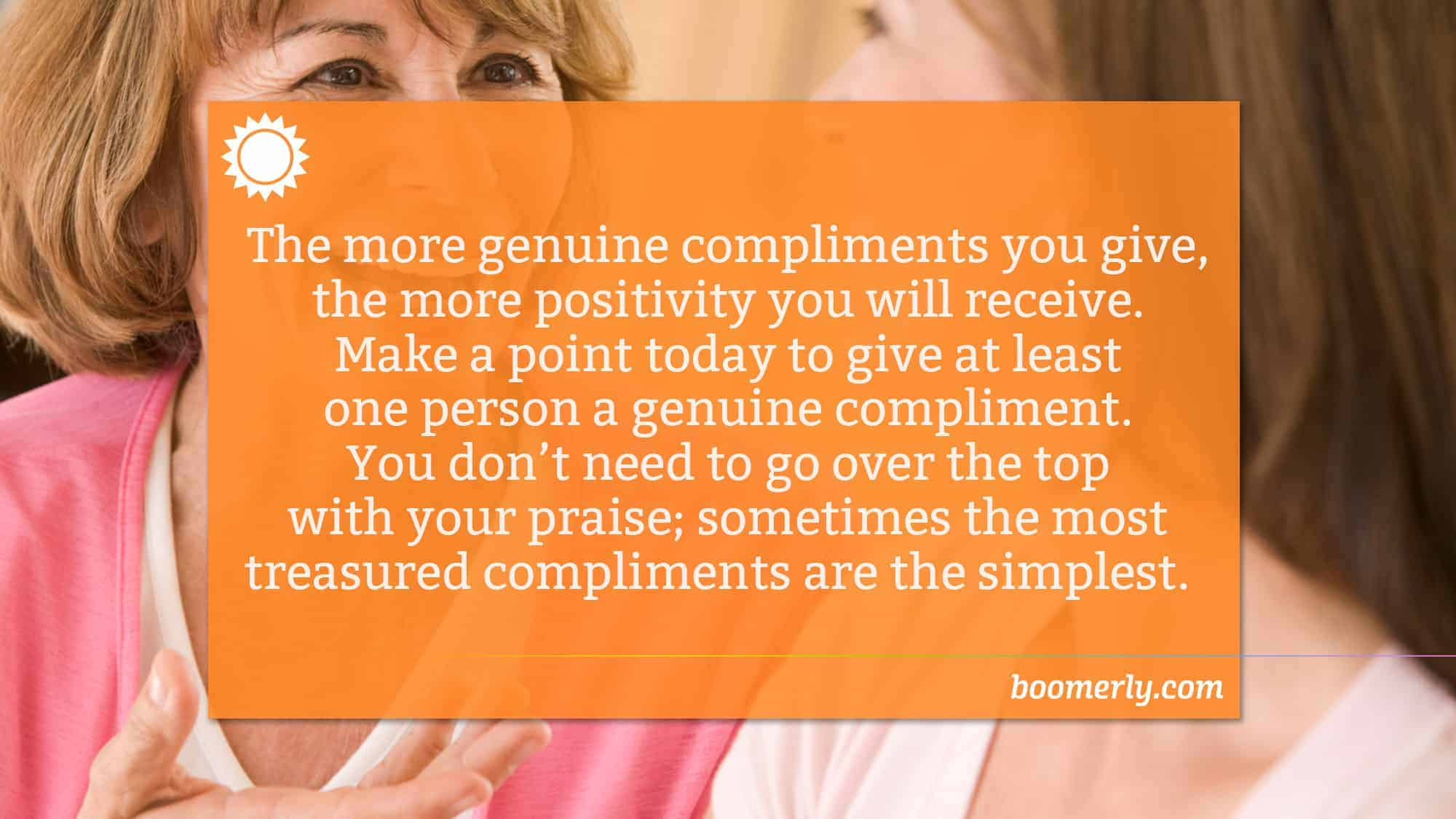 Develop a Positive Attitude with Genuine Compliments