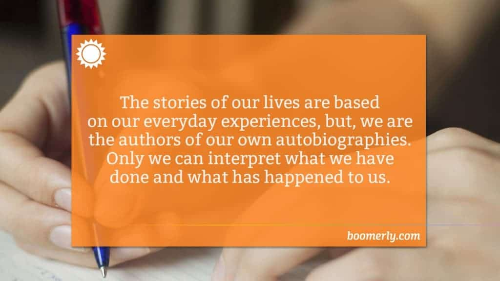 Writing an autobiography can help you be happier