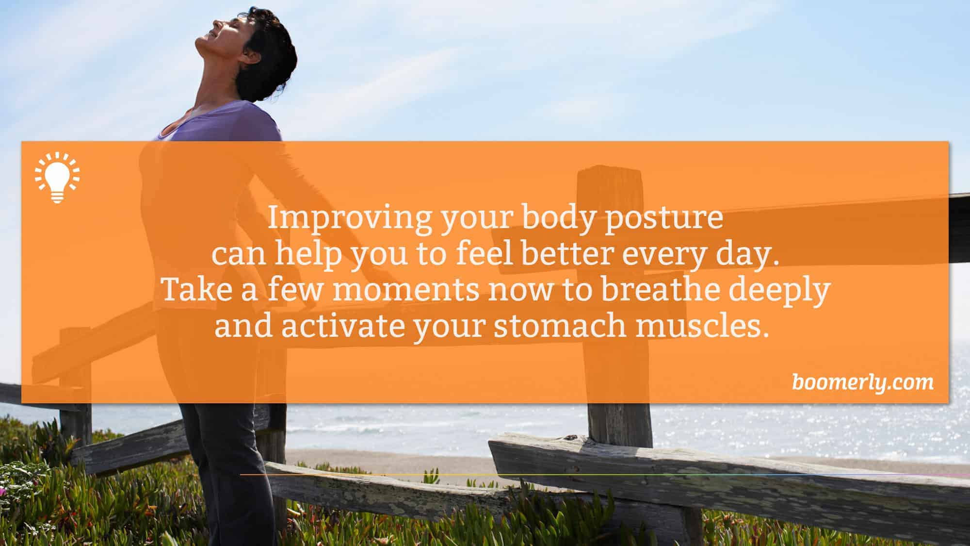 Bad posture - Improve your posture to improve your happiness.