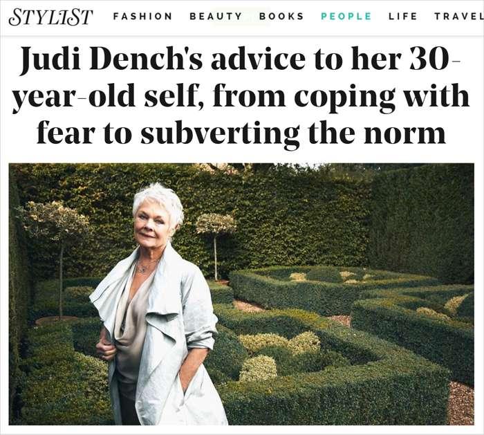 Judi Dench - Stylist
