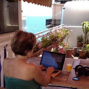 My office for a month overlooking the Mediterranean in Nice