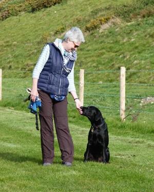 Sally and the dog