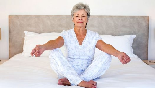 Having Trouble Falling Asleep in Your 60s? Try Gentle Yoga to Calm Your Mind