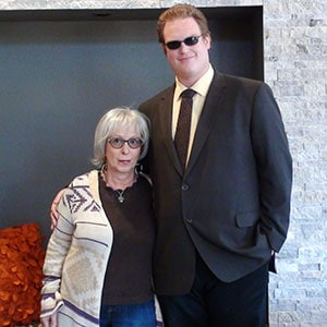 Valarie Cascadden and son
