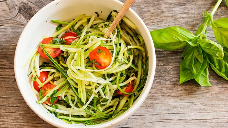 healthy eating after 60 - zoodles