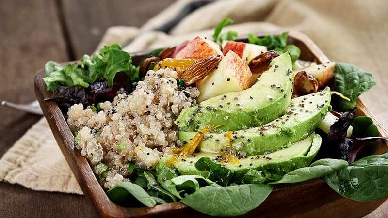healthy eating after 60 - quinoa salad