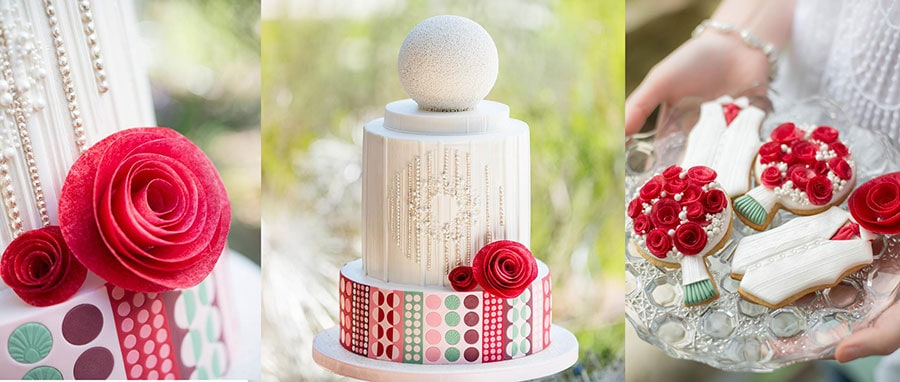 retro-circle-wedding-cake-by-lindy-smith