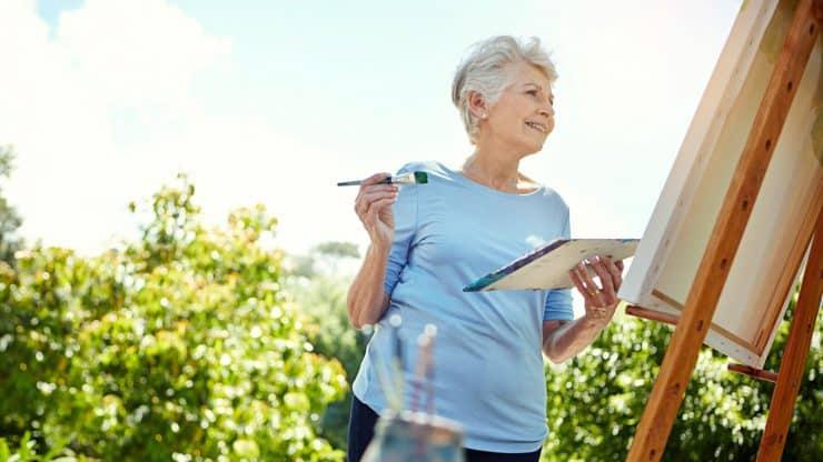 painting retirement hobbies