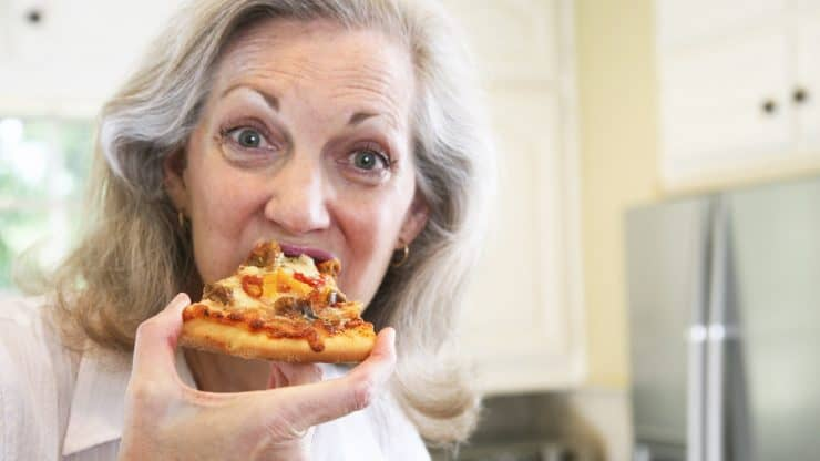 senior woman post-menopause cravings healthy eating