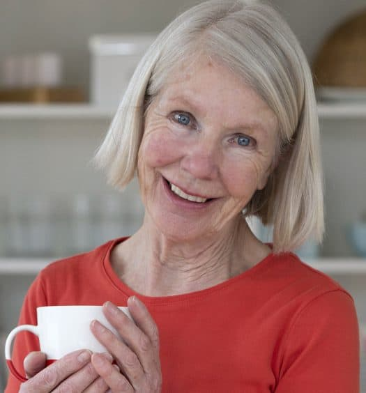 senior woman finding happiness