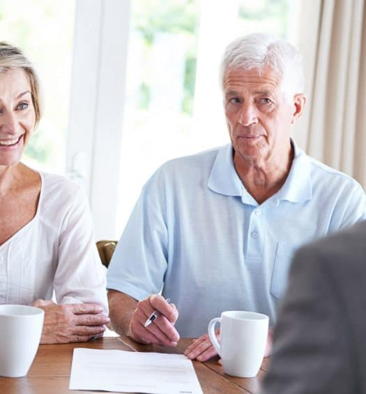senior woman financial advice retirmenet