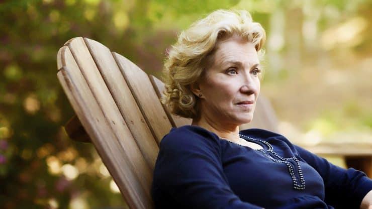 Senior Woman Retiring Alone