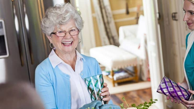 senior woman downsizing