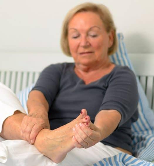 foot pain senior woman