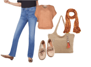 medium-colored jeans