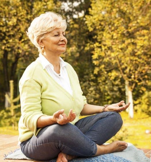 Senior woman healthy aging