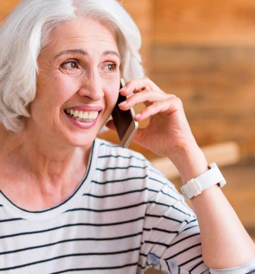 senior woman financial future