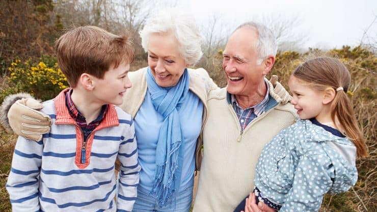 Grandparents healthy aging
