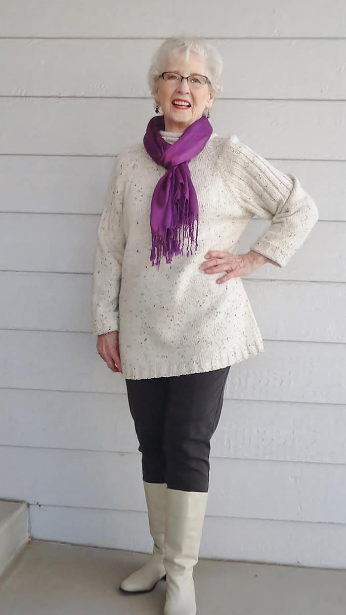 fashion for women over 60 - scarves