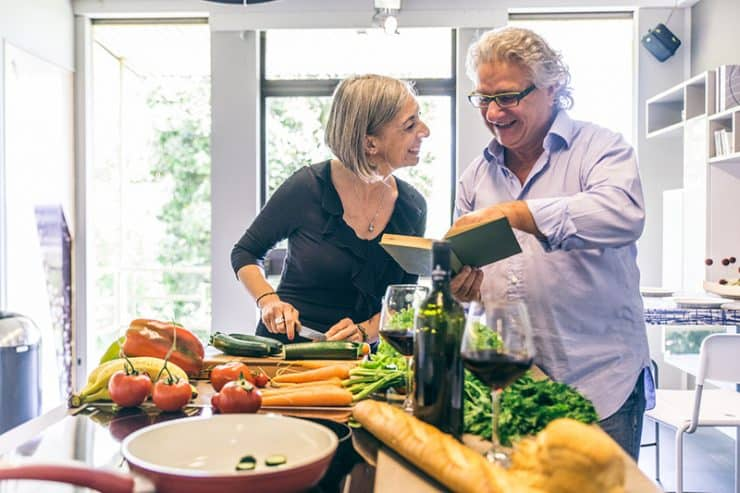 Healthy Aging Food Couple