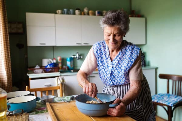 remembering a loved one - grandma cooking