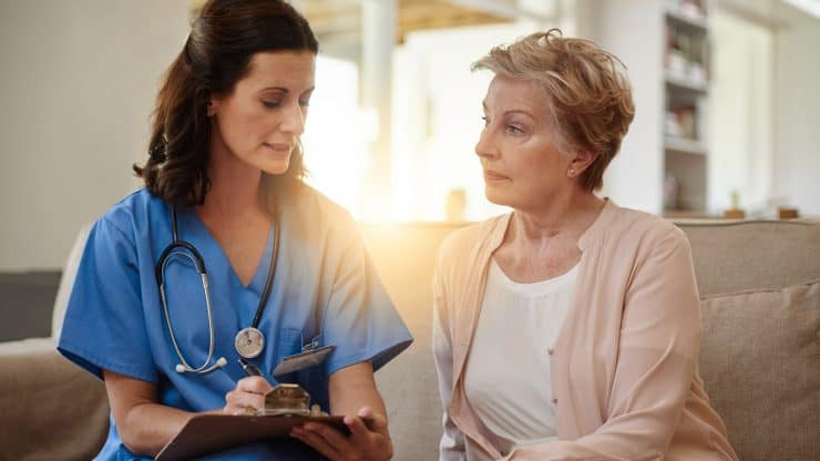 communicate with a nursing home
