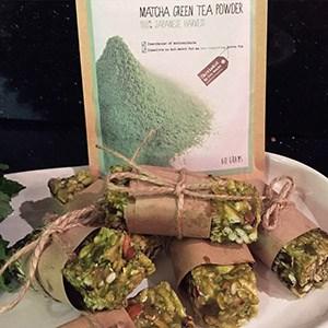 matcha green tea granola bars