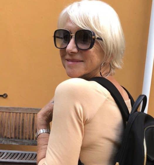 Helen Mirren Tumi backpack