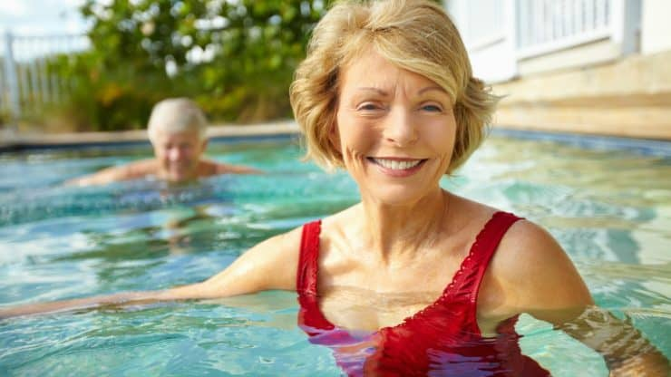 hobbies for women over 60 swimming
