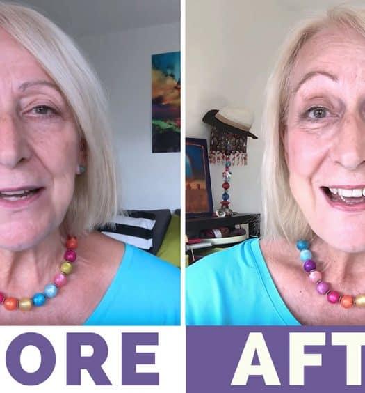 makeup over 60 makeover tutorial