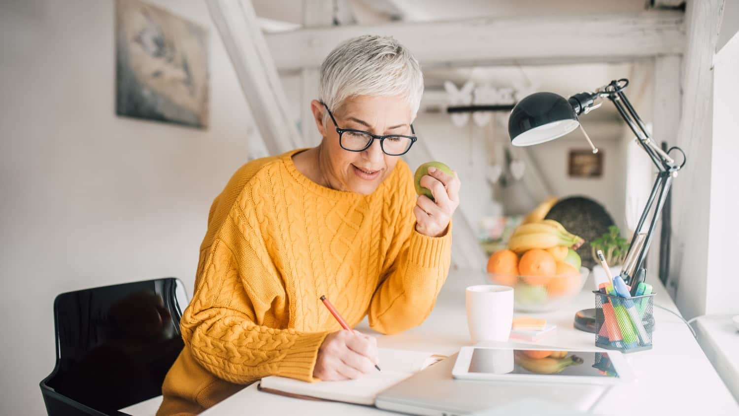 Working From Home In Your 60s Dress Your Home Office For Success Sixty And Me