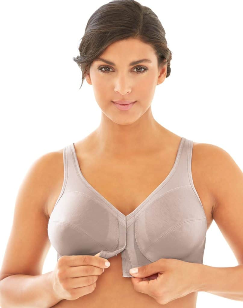 Glamorise Magic Lift Front-Close Wirefree Posture Bra