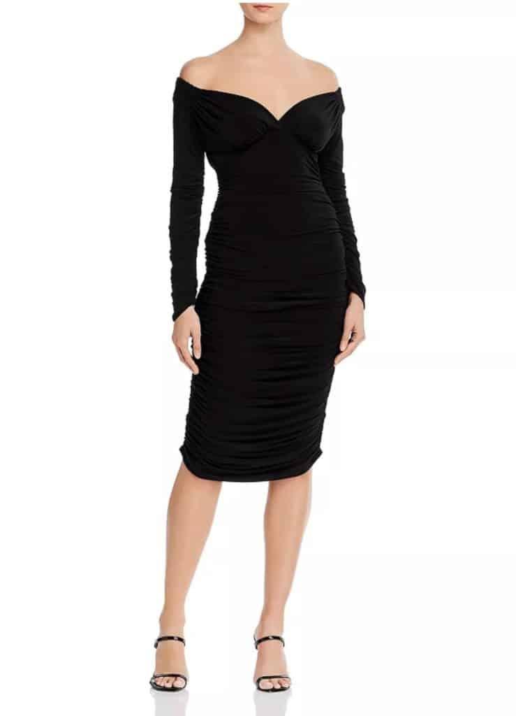 Norma Kamali Long-Sleeve Tara Dress