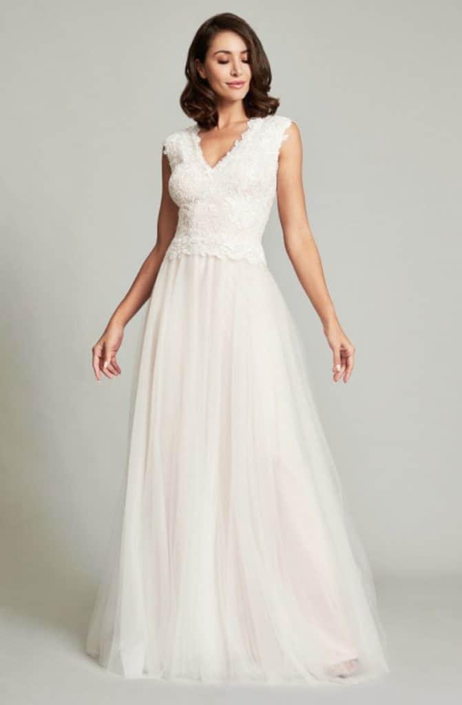 Ripley Sleeveless Full-Skirt Gown