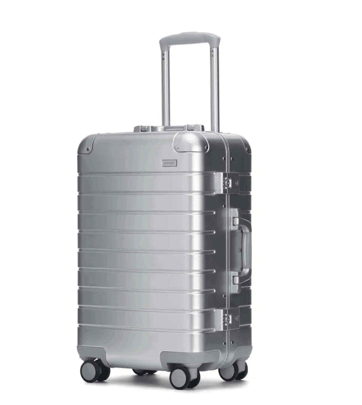Matching Silver Luggage Set