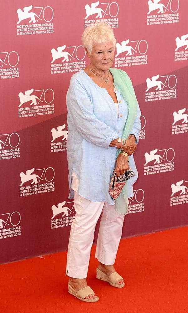 Judi Dench at Philomena Premier. Photo Credit: Getty Images.