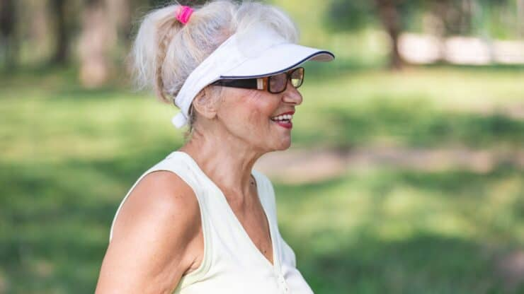 senior woman hat issues