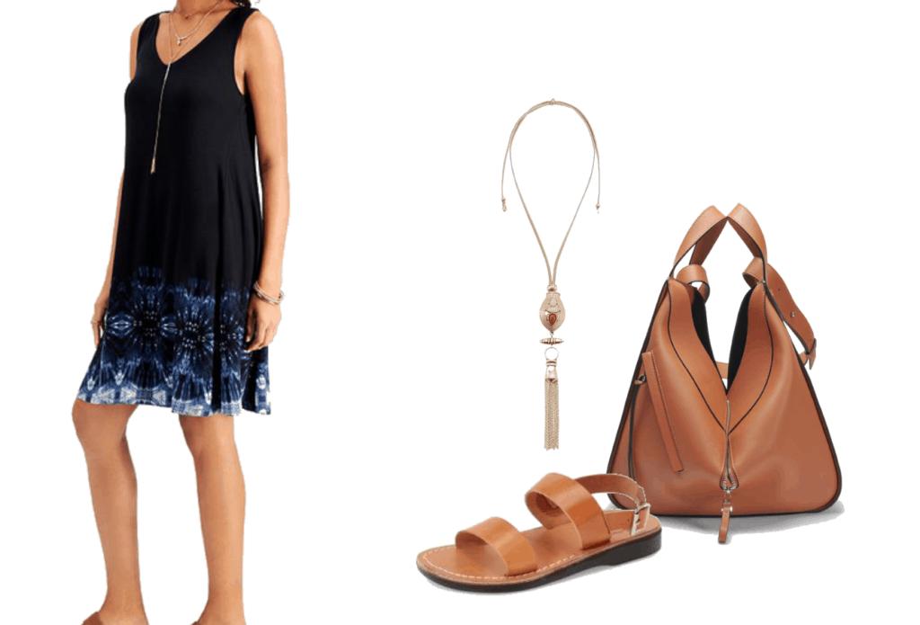 Style & Co Plus Size Printed Sleeveless Dress