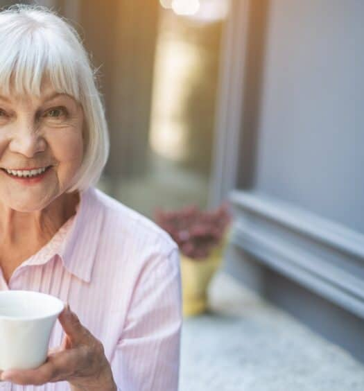senior woman thinking positive