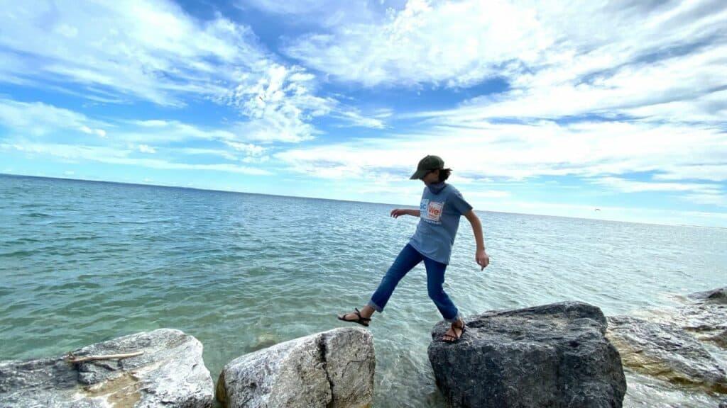skipping rocks