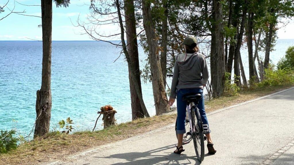 biking on Mackinac Island