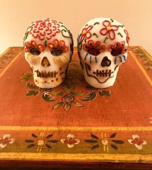 Decorative sugar skulls
