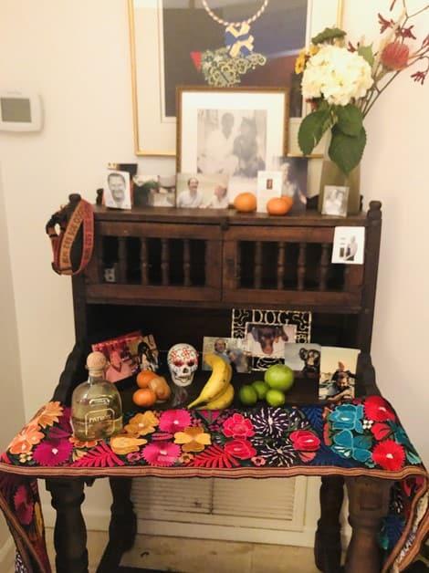 Preparing my altar for Dia de los Muertos
