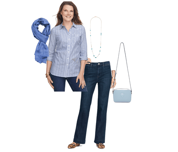 Shirt and jeans from Talbots Petite